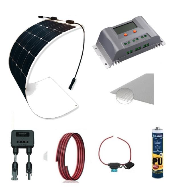 Kit Solar 175W MPPT Furgo/Camper